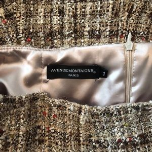 Avenue Montaigne Skirts - Avenue Montaigne tweed boucle gold skirt 4 SK